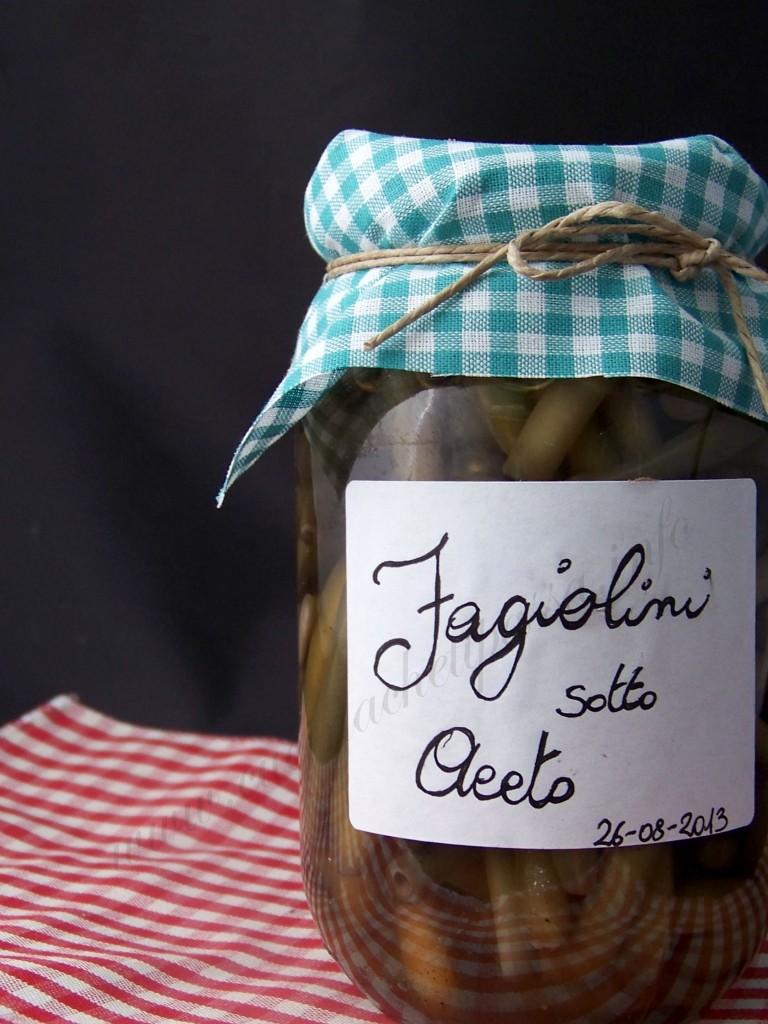 ricetta fagiolini sotto aceto (8)