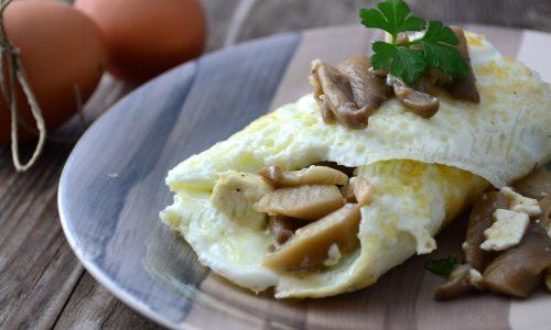 Omelette di soli albumi ai funghi