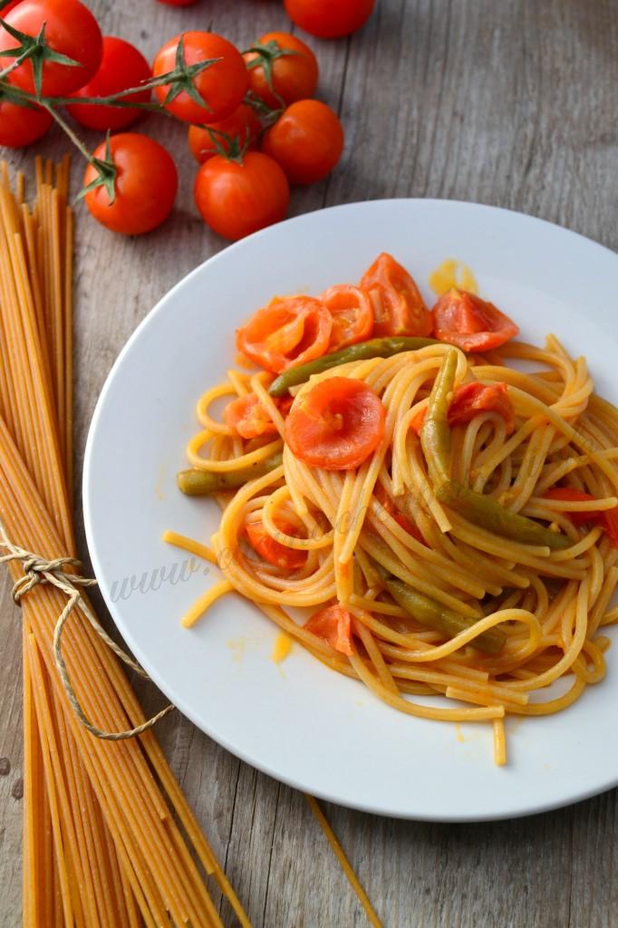 ricette con spaghetti integrali e fagiolino (13)