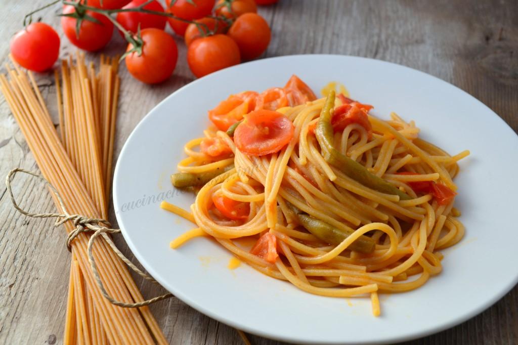 ricette con spaghetti integrali e fagiolino (16)