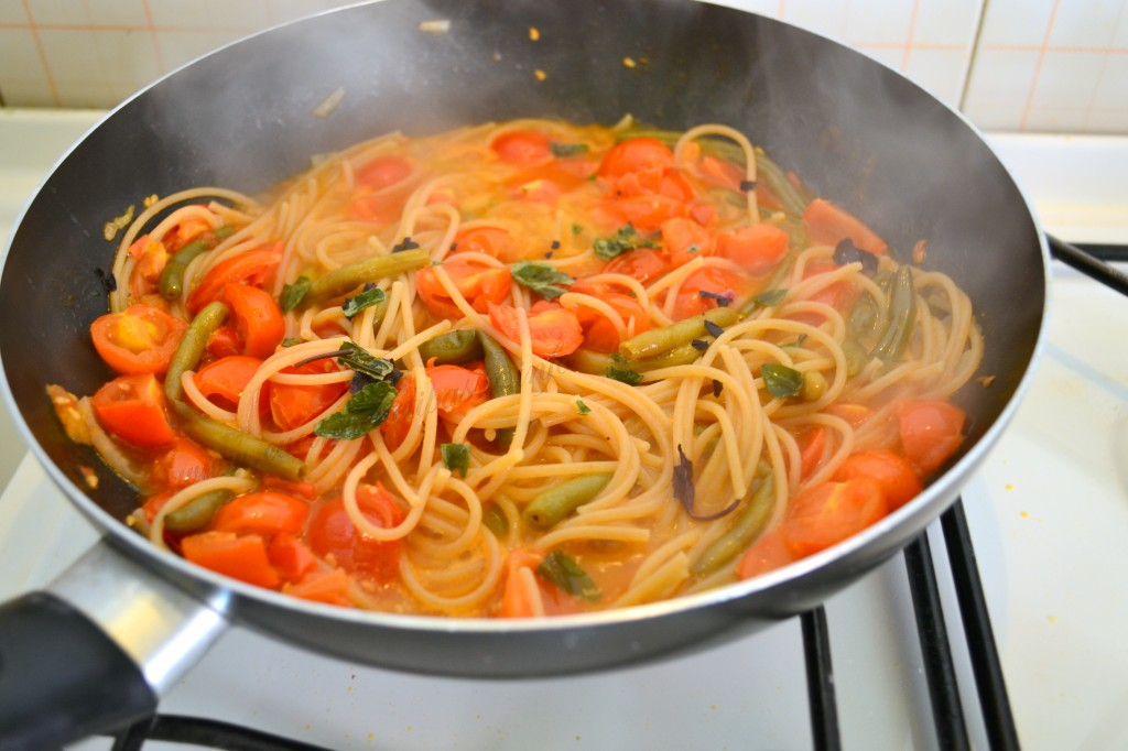 ricette con spaghetti integrali e fagiolino (4)