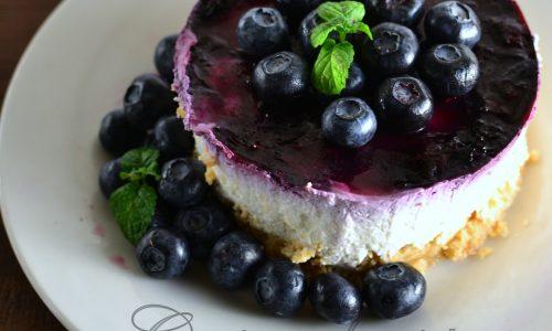 Cheesecake con mirtilli e quark
