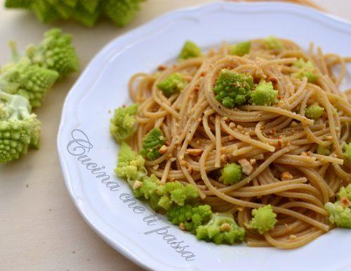 Spaghetti integrali con broccolo romano light