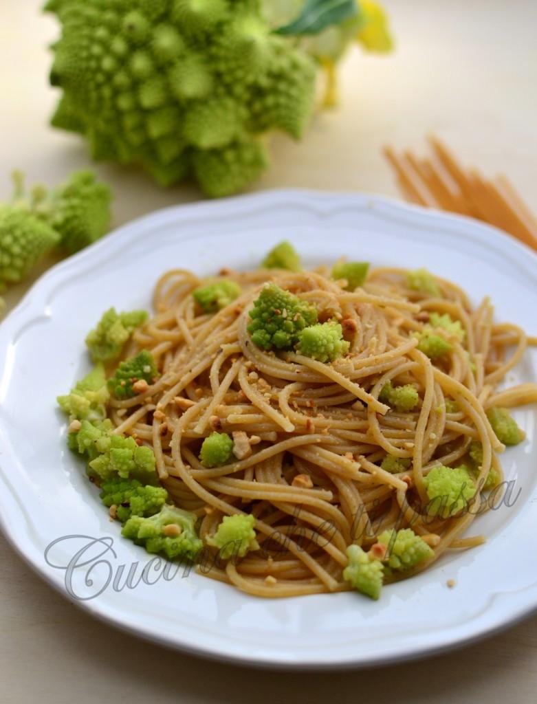 spaghetti integrali light con broccolo romano ricetta (35)