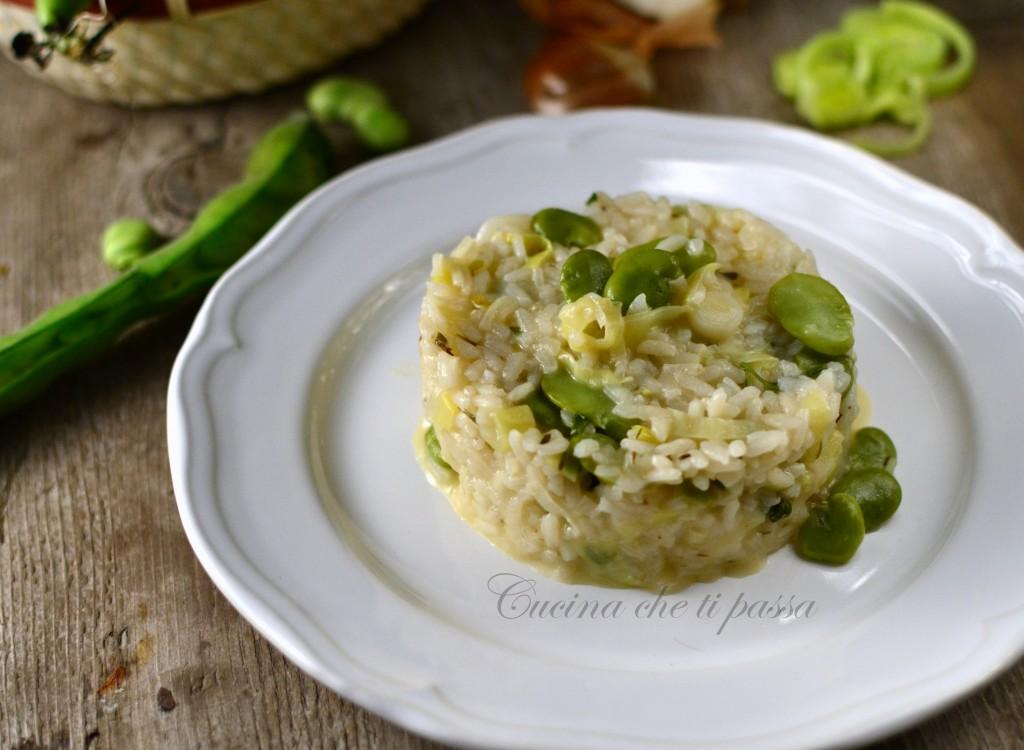 risotto con porri e fave (1)