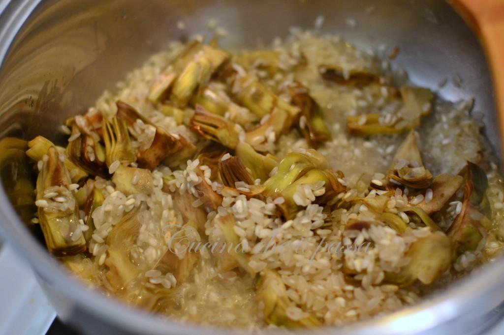 ricetta risotto con i carciofi (2)
