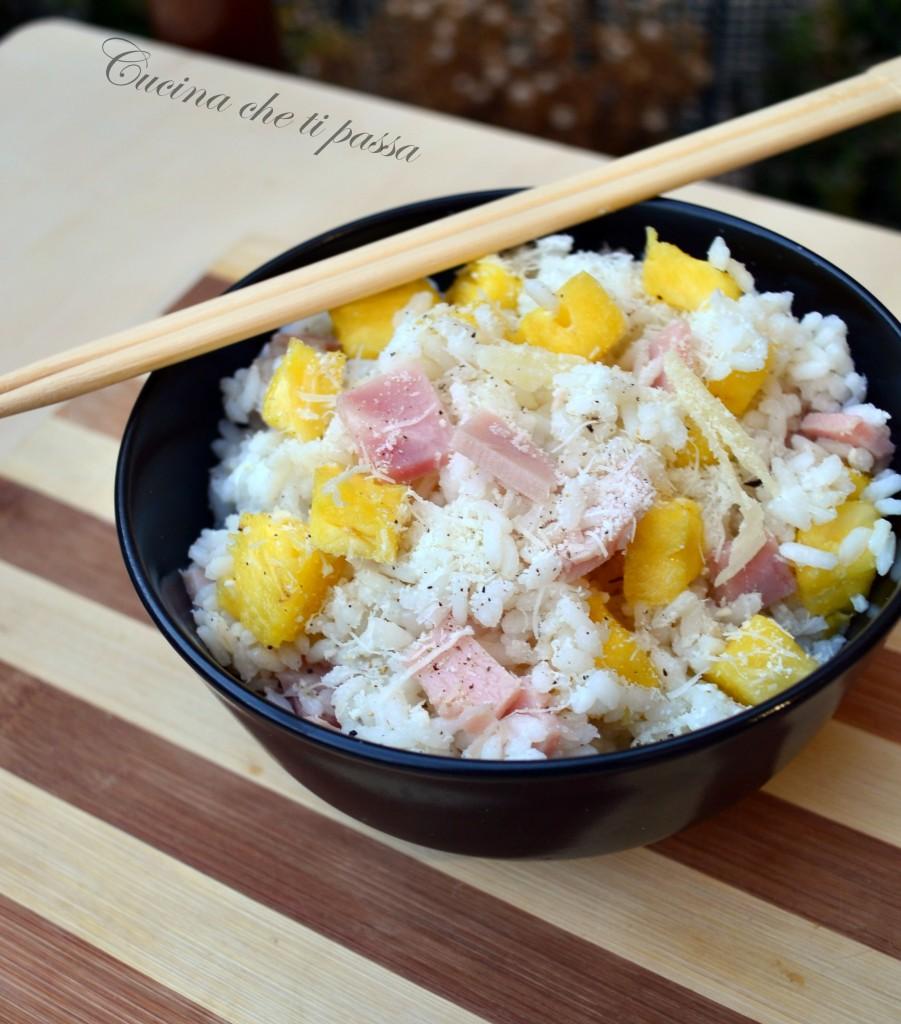ricetta insalata di riso con prosciutto ed ananas (11)