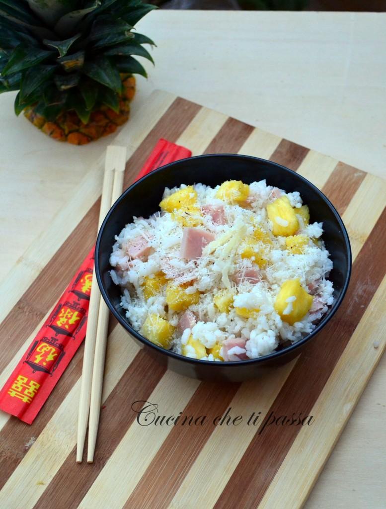 ricetta insalata di riso con prosciutto ed ananas (7)