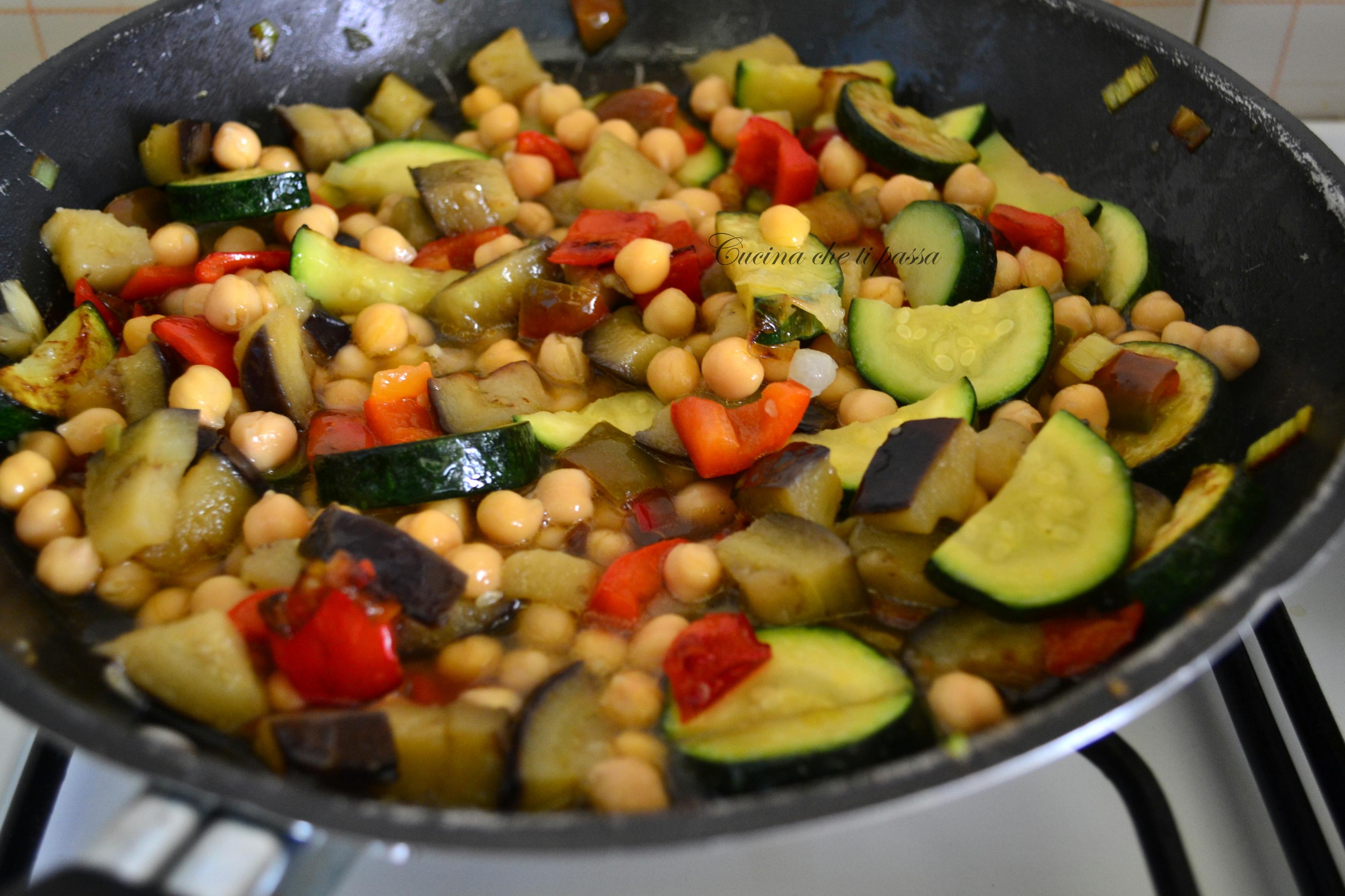 Cous cous con verdure e ceci cucina che ti passa for Ricette con verdure