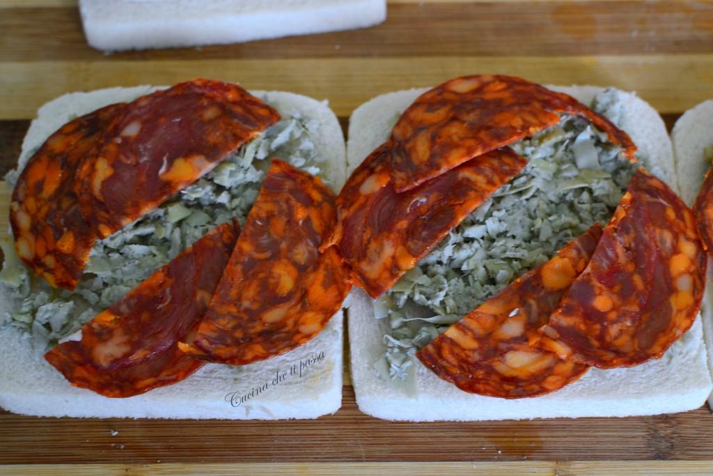 ricetta tramezzini con salame e carciofini (1)