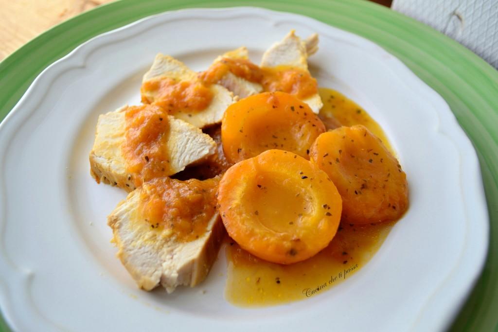 arrosto di pollo con albicocche ricetta (26)