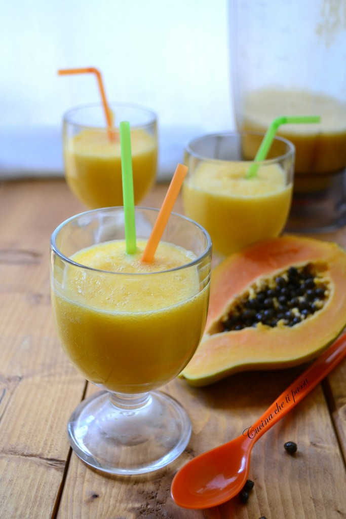 frulato di papaya e mango ricetta esotica (11)