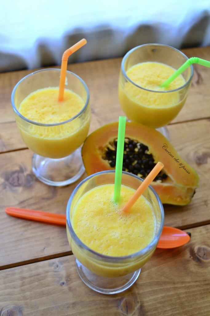 frulato di papaya e mango ricetta esotica (35)