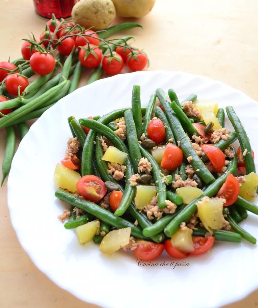 insalata di fagiolini patate e tonnp ricetta light (16)