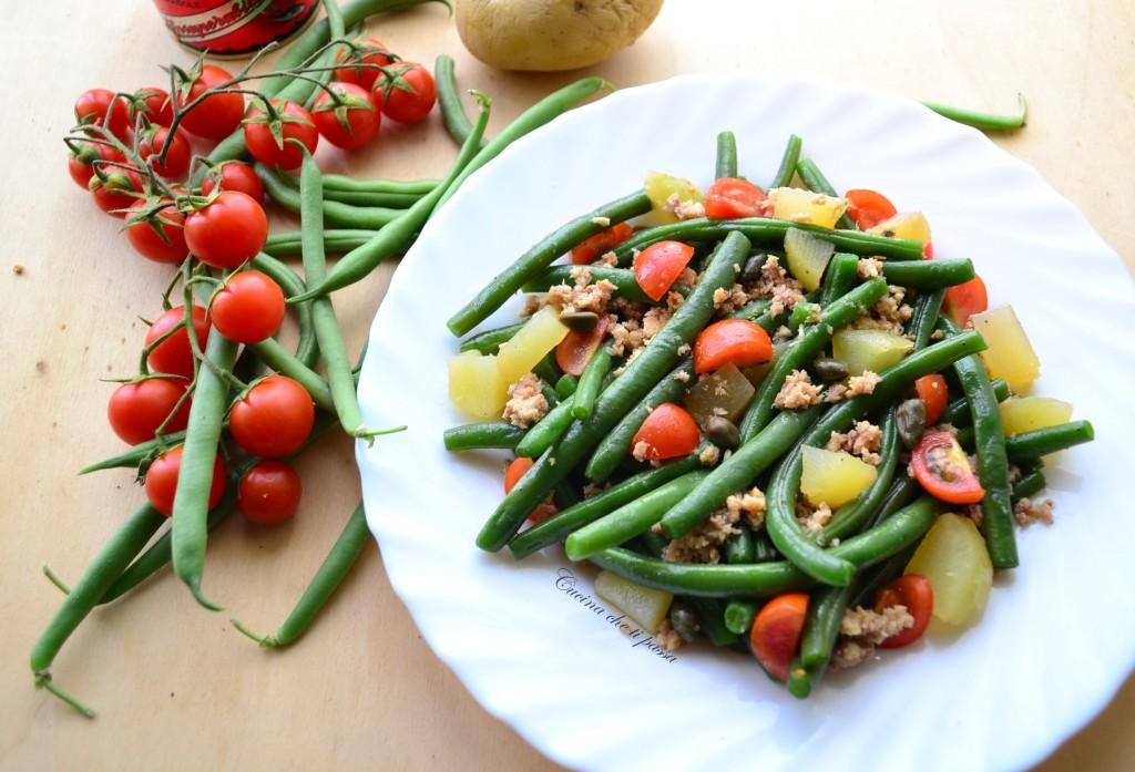 insalata di fagiolini patate e tonnp ricetta light (31)