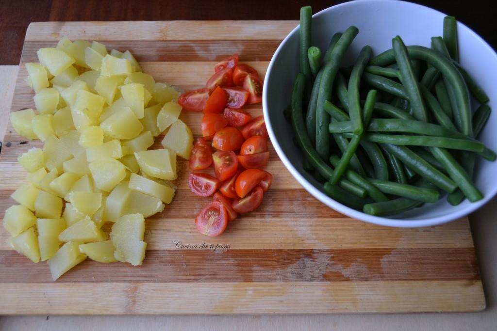 insalata di fagiolini patate e tonnp ricetta light (5)