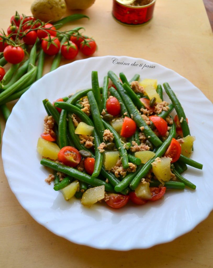 insalata di fagiolini patate e tonnp ricetta light (8)
