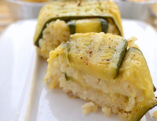 Timballi di riso con zucchine e mozzarella