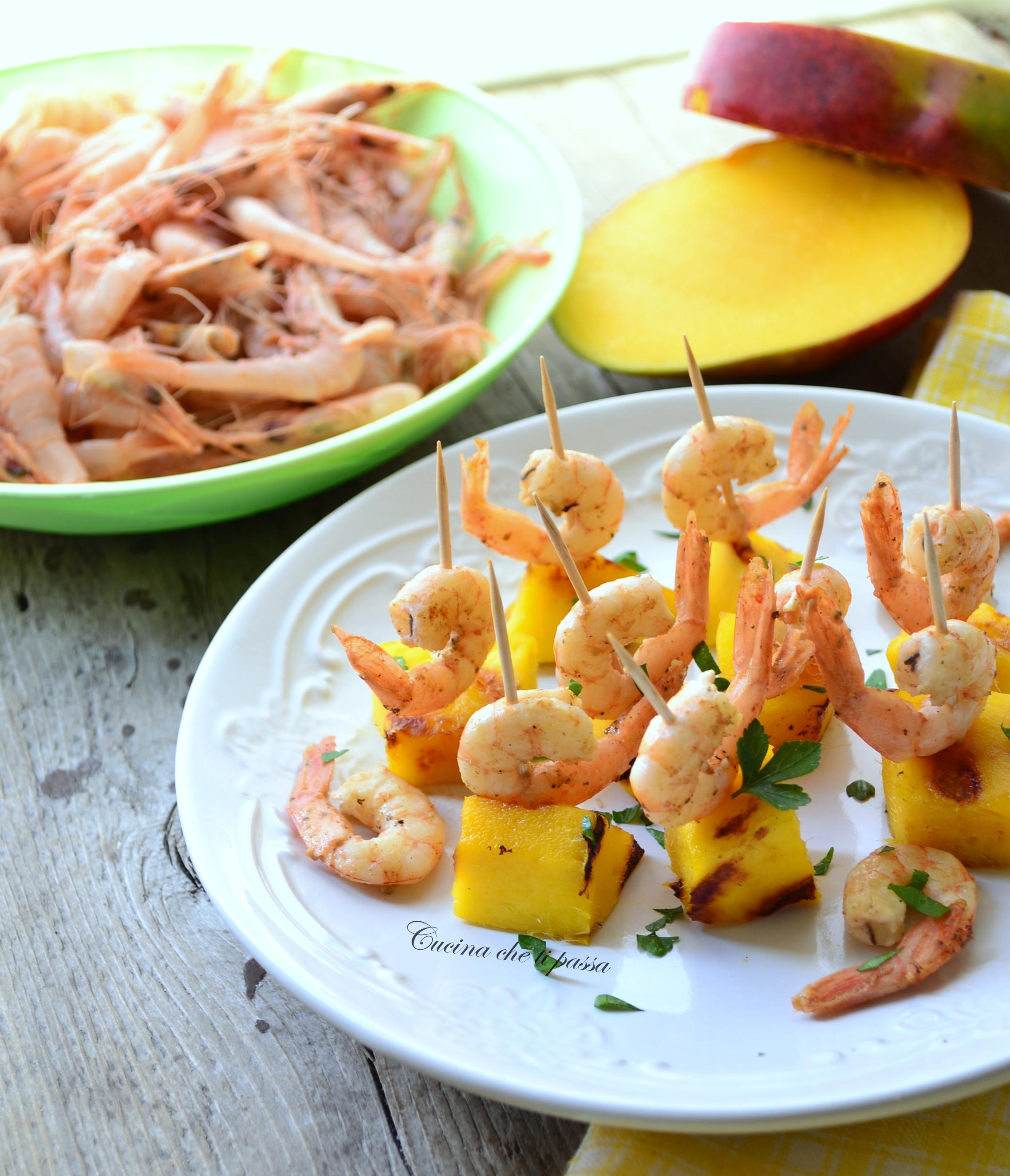 Antipasto con mango e gamberetti cucina che ti passa for Cucina antipasti