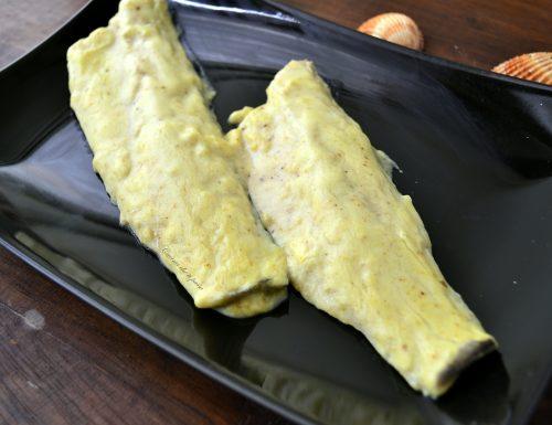 Filetti di branzino con crema al curry