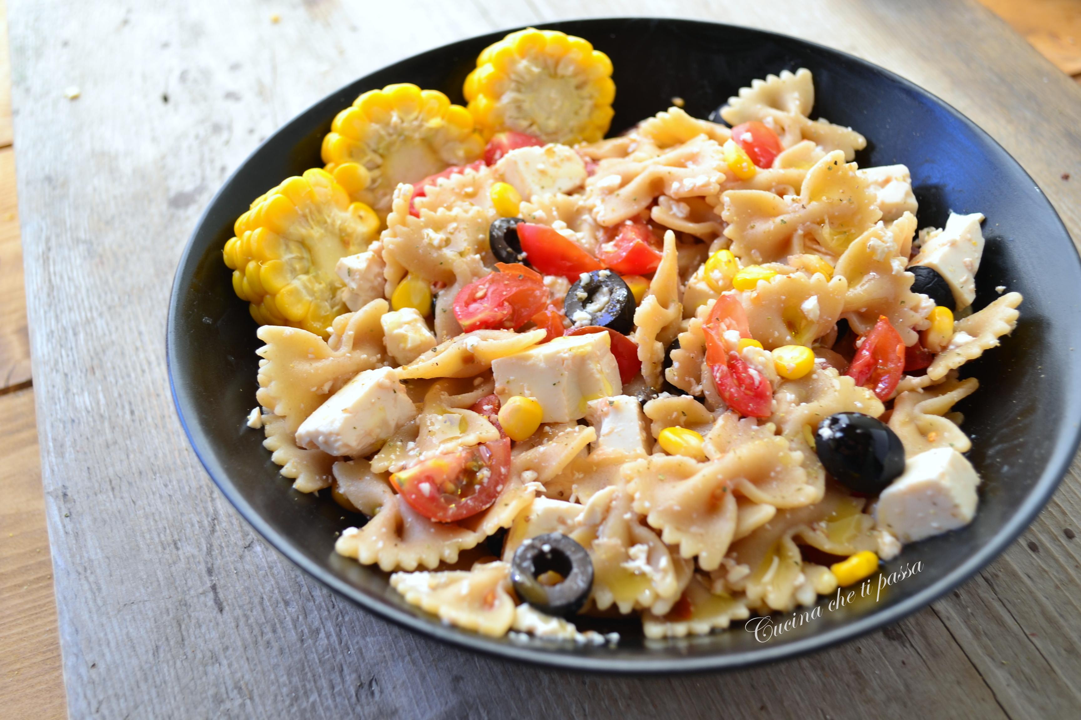 Favorito Insalata di pasta vegana con tofu | Cucina che ti passa ZJ13