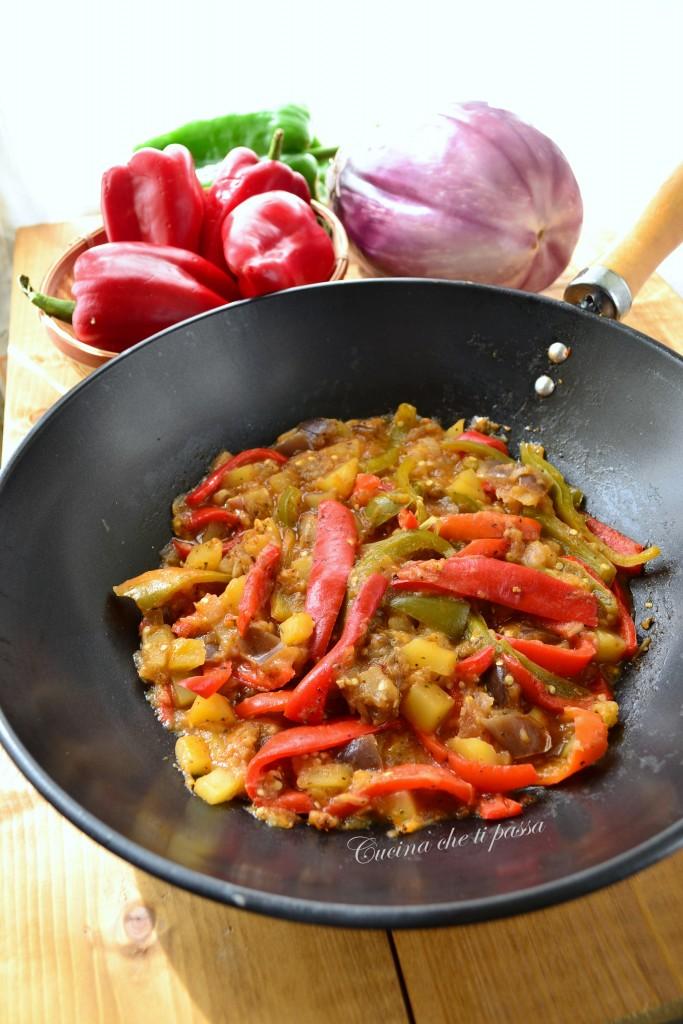 peperonata con melanzane non fritta (13)