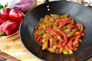peperonata con melanzane non fritta (29)