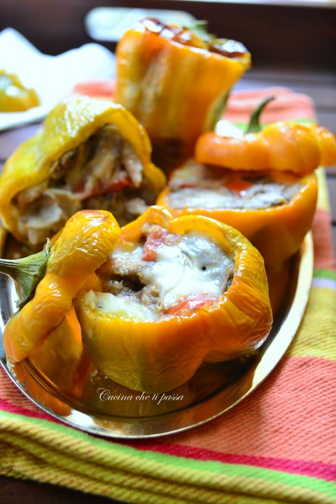 peperoni ripieni con funghi ricetta (24)