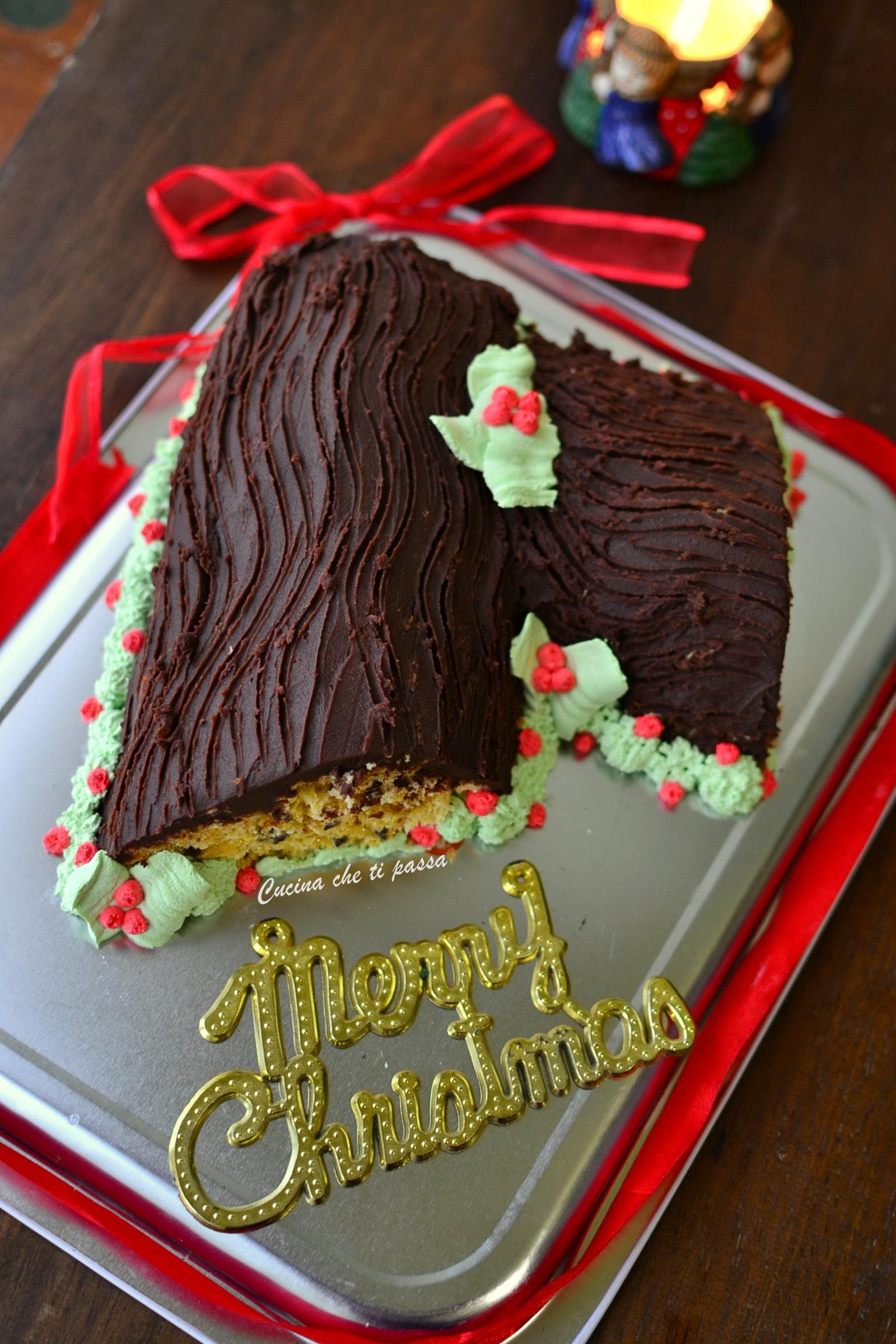 Tronchetto Di Natale Panettone.Tronchetto Di Natale Senza Cottura Cucina Che Ti Passa