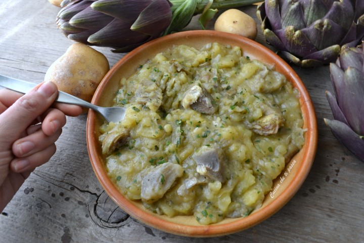 carciofi e patate alla toscana ricetta (37)
