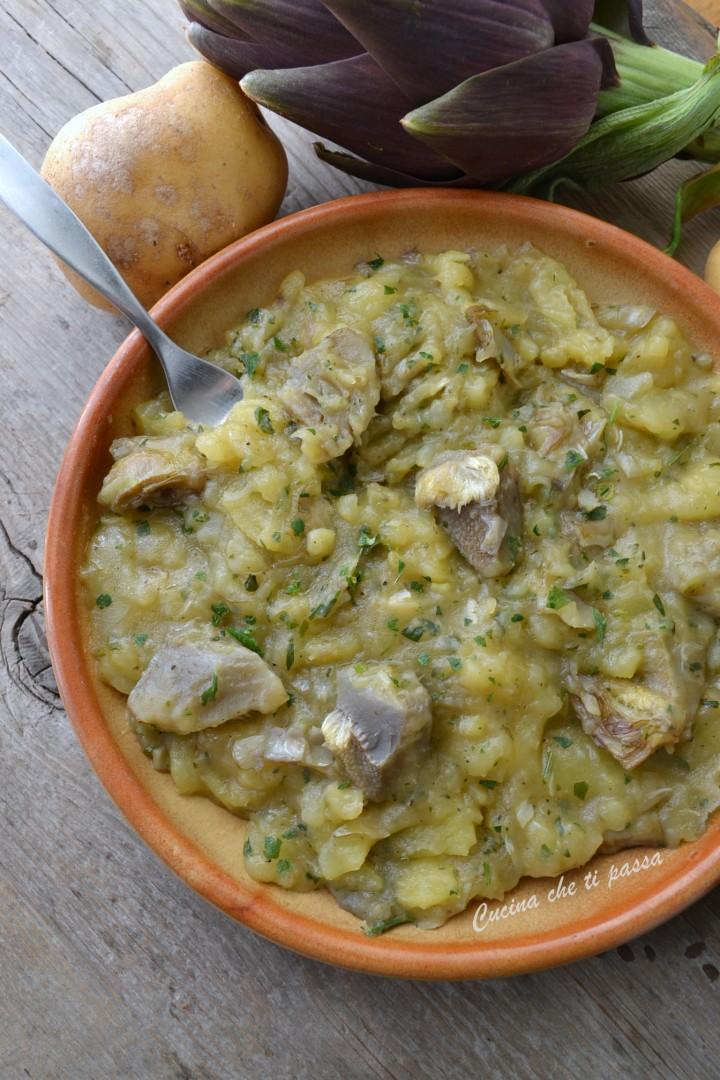 carciofi e patate alla toscana ricetta (40)