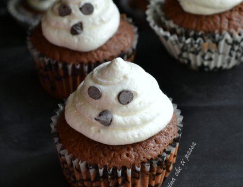 Cupcake fantasmini per halloween