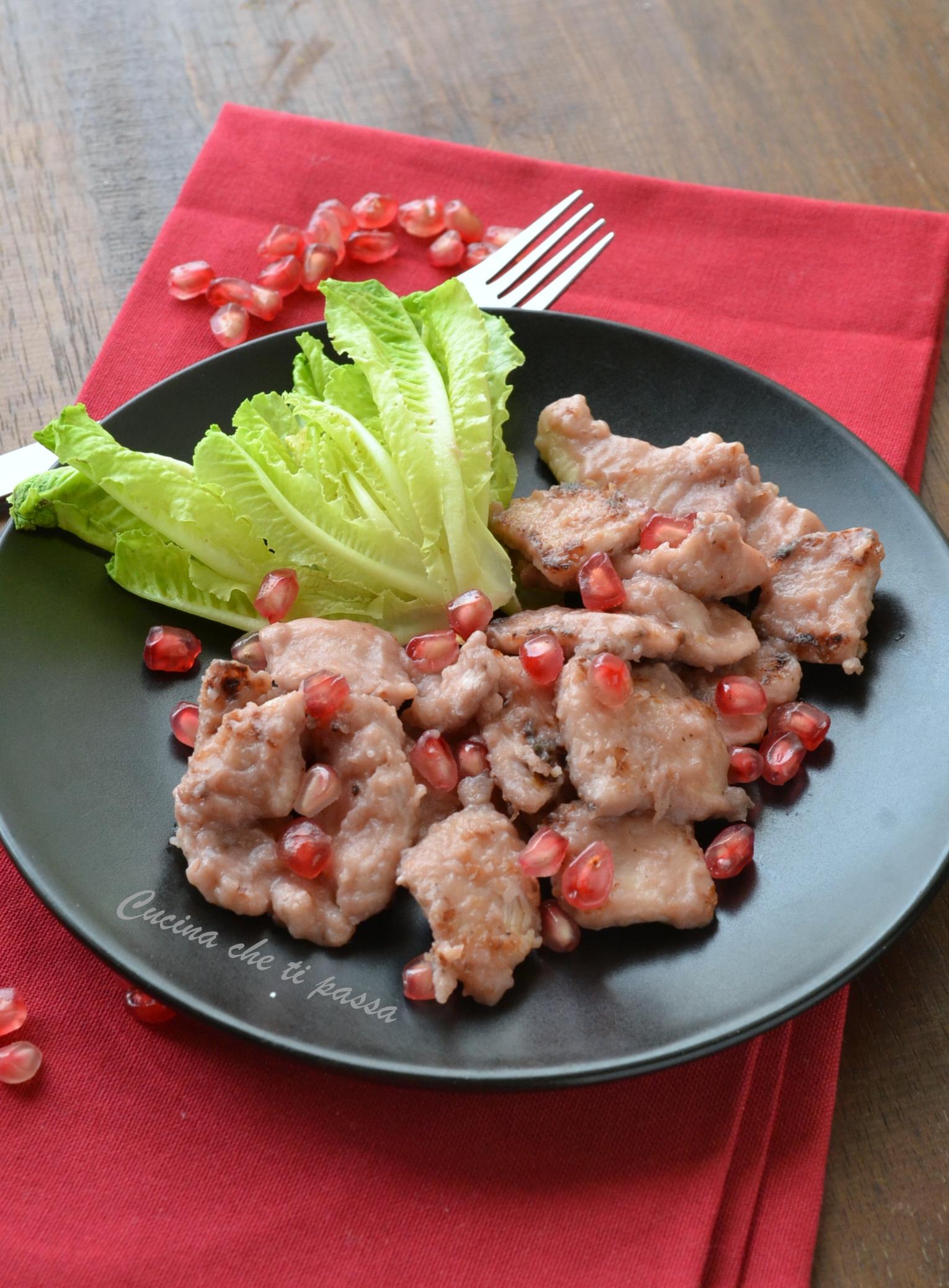 Pollo al melograno | Cucina che ti passa