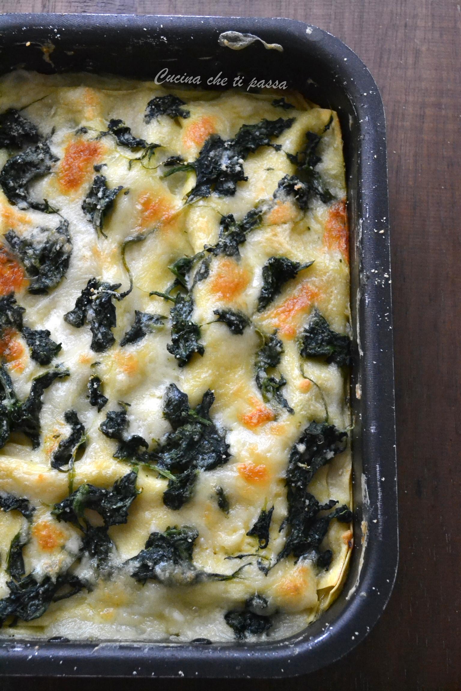 Ricetta Lasagne E Spinaci.Lasagne Agli Spinaci E Besciamella Facili Da Preparare