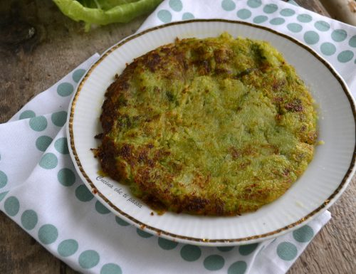 Tortino di patate e verza in padella