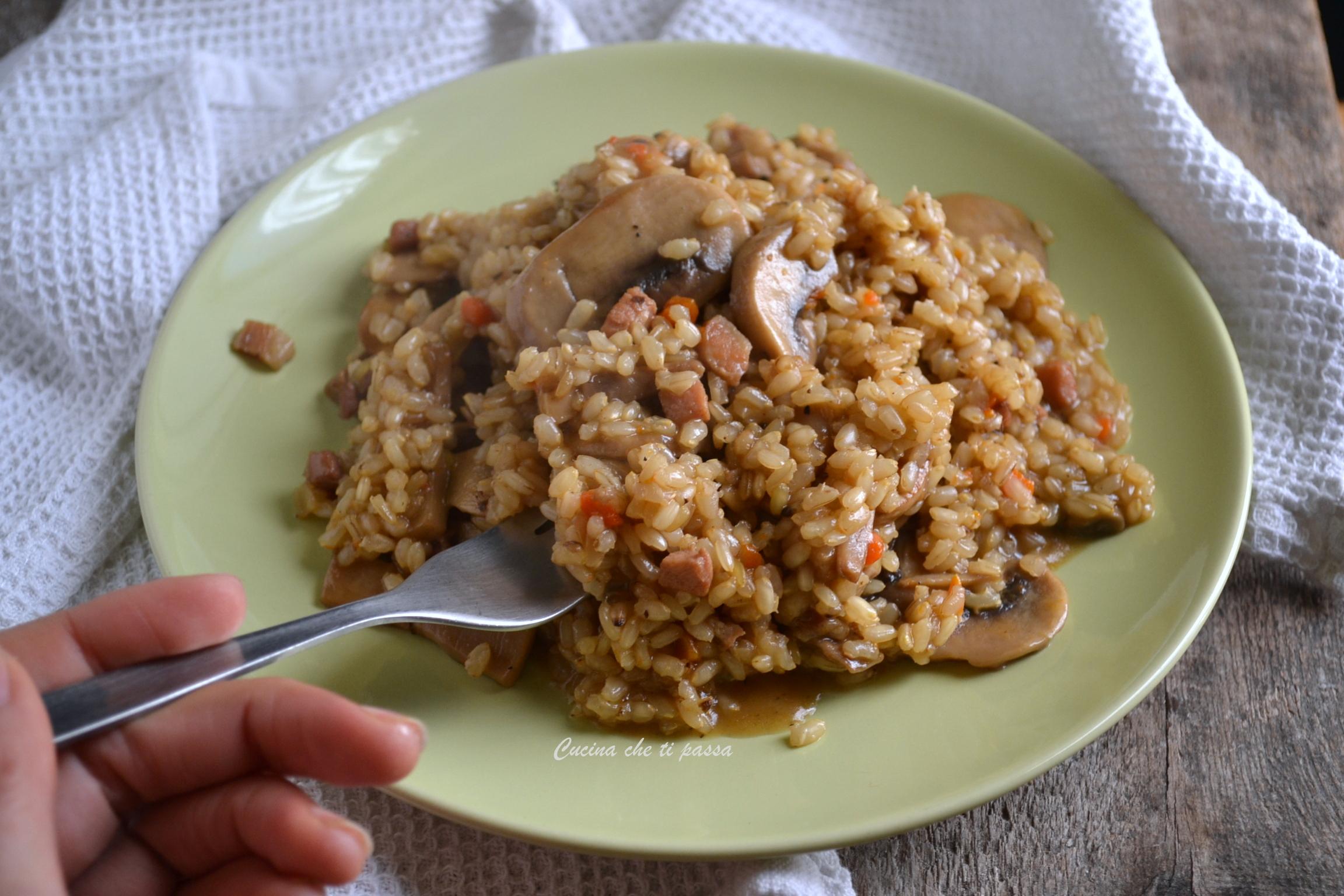 Ricette risotto con funghi for Risotto ricette