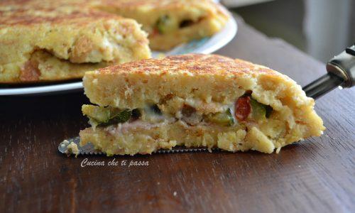 Torta di pane e verdure