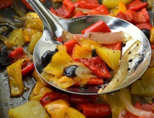 Peperoni e verdure al forno