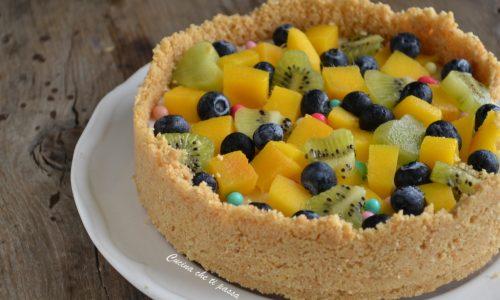 Torta panna cotta e frutta