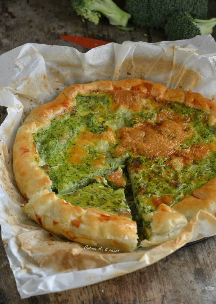 Ricetta Quiche Broccoli.Quiche Ai Broccoli E Pancetta Cremosa E Gustosissima