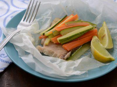 pesce al cartoccio al microonde