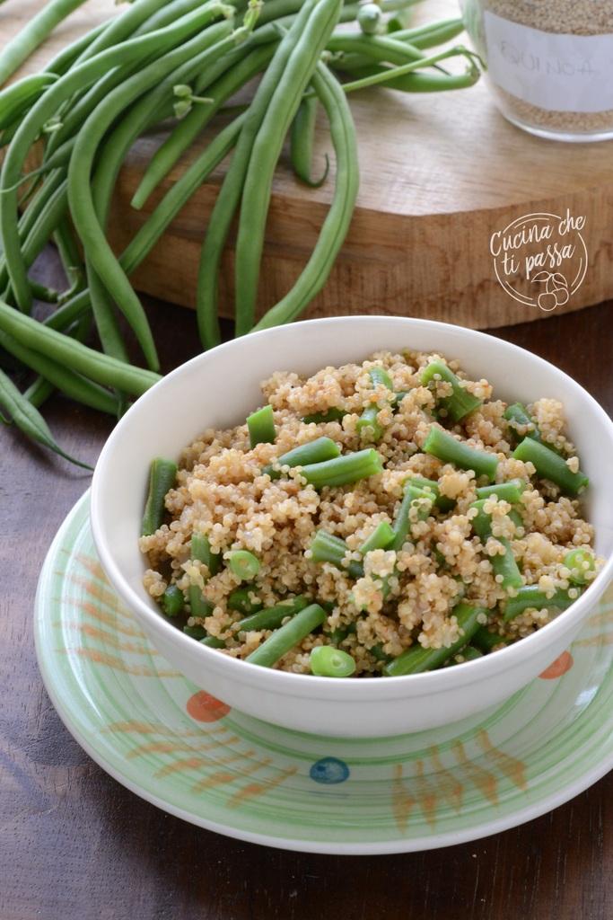 Insalata di quinoa e fagiolini