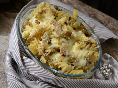Pasta con carciofi e mozzarella