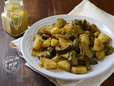 Verdure al forno con curcuma
