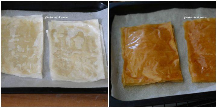Millefoglie di pasta fillo ed albicocche