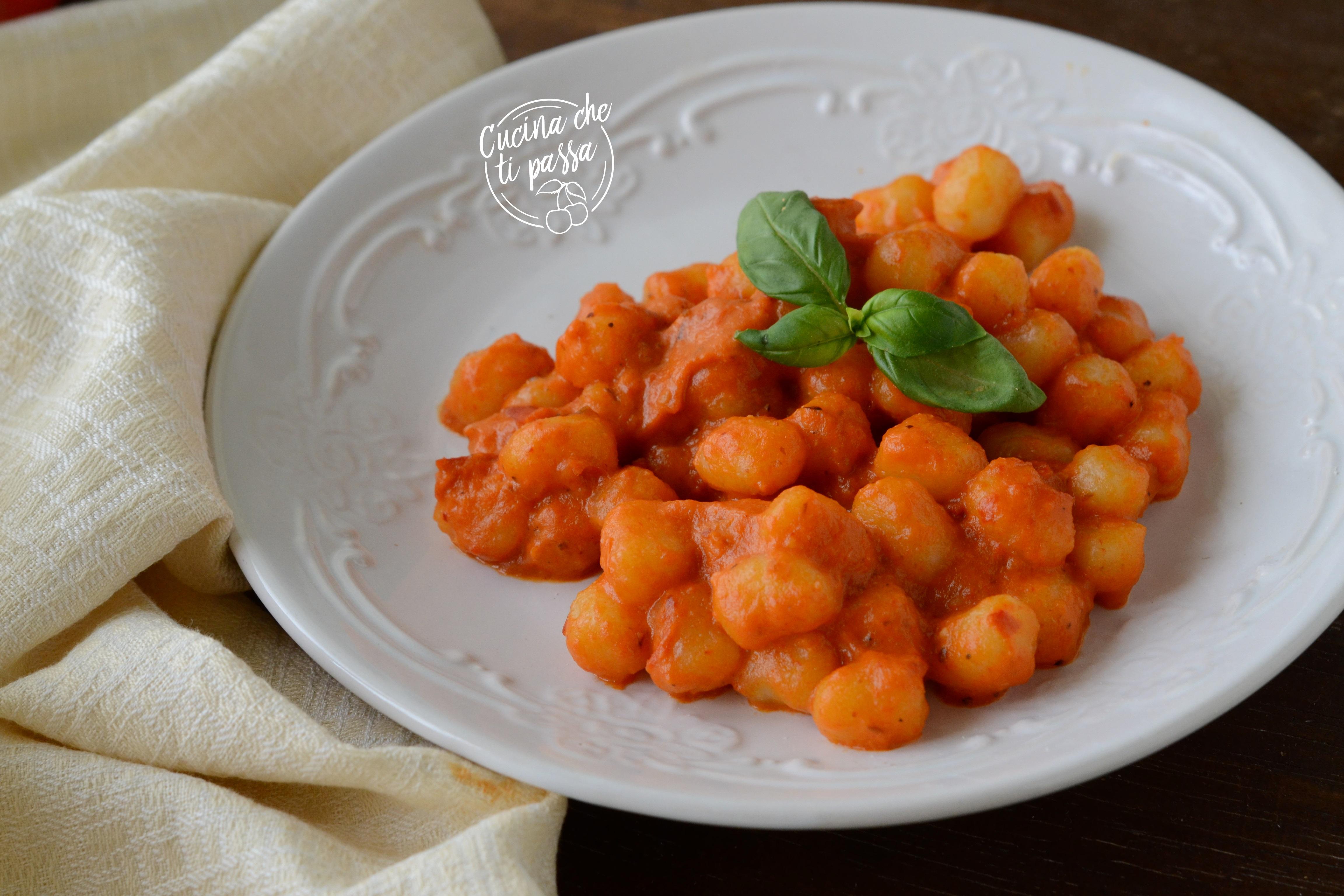 Gnocchi con peperoni