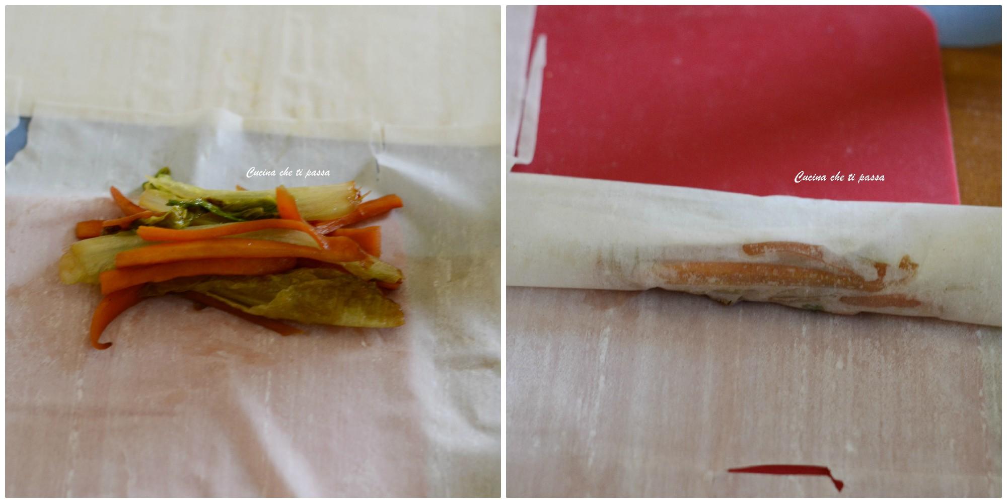 Involtini di verdure e pasta fillo