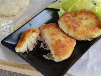 Crostini di patate e speck