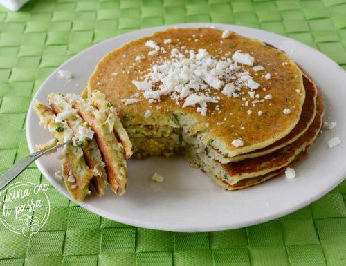Pancake salati con zucchine e ricotta