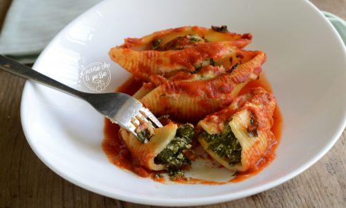 Conchiglioni ricotta e spinaci